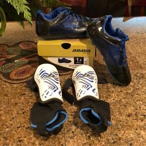 Other - Boys VERY lightly worn Soccer clear & shin guards